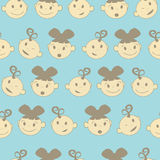 Squiggles. Baby boy and baby girl seamless background Royalty Free Stock Image