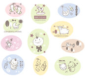 Squiggles: Baby Icons Stock Images