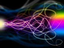 Squiggles Background Means Swirly Lines At Night Royalty Free Stock Photography