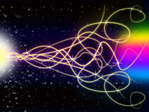 Squiggles Background Shows Light Pattern And Stars Royalty Free Stock Photos