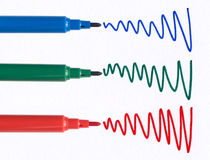 Squiggles de stylo feutre. photographie stock