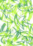 Squiggly Lines Pattern Green Stock Photography