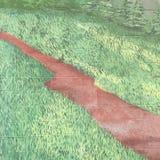 Squiggly linje diagram Royaltyfria Bilder