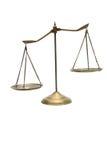Squilibrio delle scale Fotografia Stock