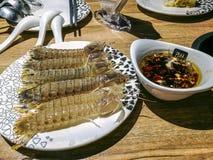 Squillid chińczyka jedzenie obraz royalty free