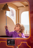 Squillo della campana del treno Immagini Stock Libere da Diritti