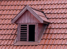 Squint window on roof Royalty Free Stock Image