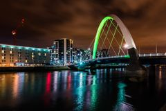 Squinty Bridge in Glasgow. Royalty Free Stock Photography