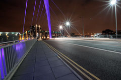 The Squinty Bridge st night, Glasgow. The famous Squinty Bridge at night, Glasgow, Scotland Stock Photo