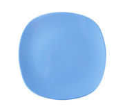 Squircle shaped blue dinner plate Stock Photo