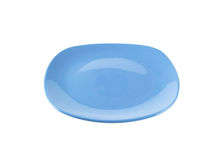 Squircle shaped blue dinner plate Stock Photography