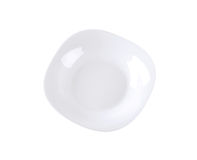 Squircle white soup plate Royalty Free Stock Images