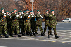 Squire battalion. The squire battalion at 1st December parade in 2011 Stock Photos