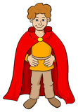 Squire with red cape Royalty Free Stock Photo