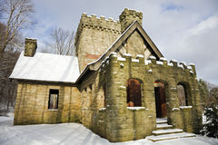 Squire's Castle. In Ohio - winter time Royalty Free Stock Image