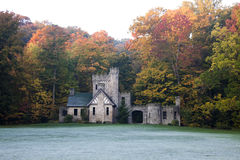 Squire's Castle. In Willoughby Hills, Ohio in autumn scennery Royalty Free Stock Images