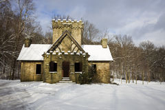Squire's Castle in Cleveland area. Ohio. Winter time Royalty Free Stock Photo