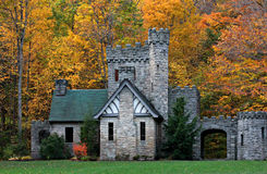 Squire's Castle, Cleveland MetroParks, Chagrin Reservation, Ohio. Squire's Castle is a shell of a building located in the North Chagrin Reservation of the stock photography