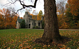 Squire's Castle, Cleveland MetroParks, Chagrin Reservation, Ohio. Squire's Castle is a shell of a building located in the North Chagrin Reservation of the royalty free stock photos