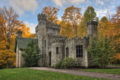 Squire's Castle. Was built in the 1890s by Feargus B. Squire for use as the gatekeeper's house for his future country estate, which was never built. It is now Stock Image