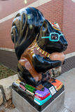 Squirell with glasses is public art in Marysville Kansas, Midwestern USA Stock Photo