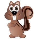 Squirrel. Crazy smiling squirrel, illustration, isolated Stock Photo