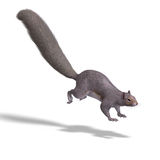 Squirrel 3D Render Royalty Free Stock Images