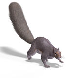 Squirrel 3D Render Royalty Free Stock Photos