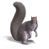Squirrel 3D Render. Rendering of a cute Squirrel with Clipping Path vector illustration