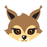 Squirrel Animal Carnival Mask. Brown Fluffy Bun. Royalty Free Stock Image