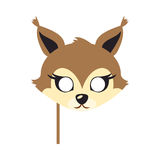 Squirrel Animal Carnival Mask. Brown Fluffy Bun. Stock Photography