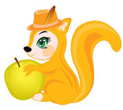 Squirrel with apple Royalty Free Stock Photography