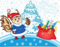 Squirrel as Santa Claus Royalty Free Stock Photo