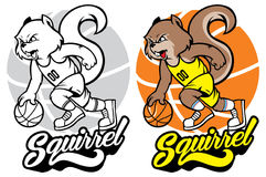 Squirrel basketball mascot Stock Images