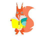 Squirrel with book Stock Photo