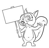 Squirrel cartoon Royalty Free Stock Photos