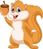 Squirrel cartoon with nut. Illustration of Squirrel cartoon with nut Stock Photos