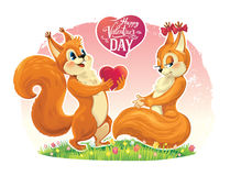 Squirrel character. Stock Images
