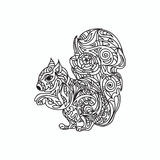 Squirrel coloring page Stock Photo