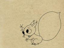 Squirrel drawing Royalty Free Stock Photos