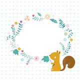 The squirrel and flowers Royalty Free Stock Photo