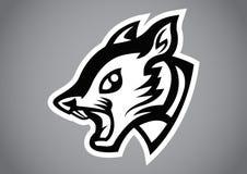 Squirrel head black shield logo vector. Emblem illustration design idea creative sign Stock Image