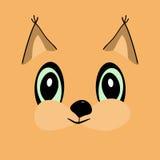 Squirrel head cute cartoon Royalty Free Stock Photo