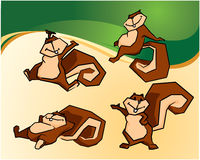 Squirrel i fumetti royalty illustrazione gratis