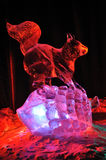 Squirrel Ice Sculpture Stock Image