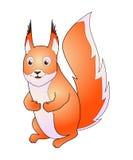Squirrel a ilustração do vetor, isolada no fundo branco imagens de stock