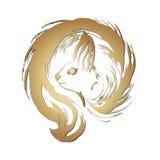 Squirrel logo. Squirrel, squirrel tail, snout squirrel Stock Images