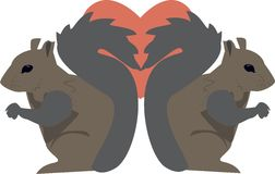 Squirrel Love Royalty Free Stock Photo