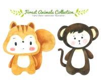 monkey isolated white background hand drawing cartoon stock