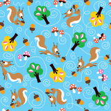 Squirrel pattern Stock Photo